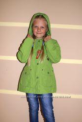 Яркие куртки на весну ТМ Ohara  с отстегивающейся толстовкой