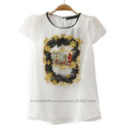Белая воздушная блуза с вышивкой