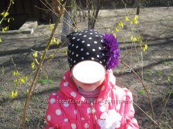 Цветы из лент на деми и летние шапочки