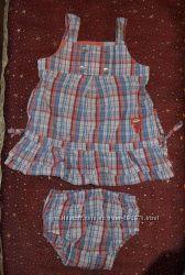 Летний сарафан с трусиками для девочки р. 68