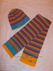 Шапка с шарфом на 5-6 лет
