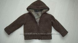 Вязаная курточка с мехом CHEROKEE, размер 86-92 см