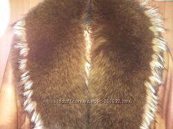 Кожаное пальто с шикарным песцом