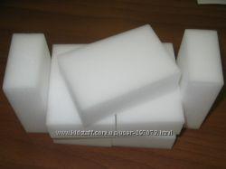 Меламиновые губки белые, 10 х 6 х 2 см, по вкусной цене