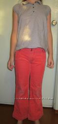 Вельветовые джинсы на девочку
