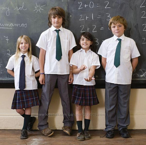 Школьные рубашки, тениски в школу TESCO F&F Англия.