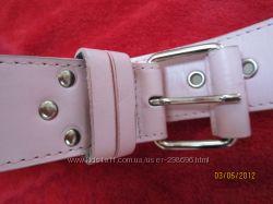 Пояс кожаный розовый Reserved 85 см