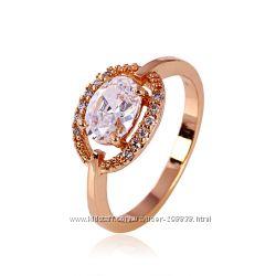 Прекрасное Колечко GF 18К  розовое золото 16, 5мм