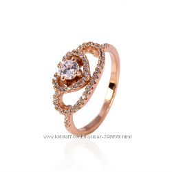 Прекрасное колечко GF 18 K, Розовое золото Размер 18 мм