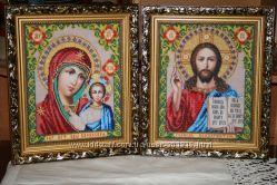 Картины бисером и крестиком ручной работы