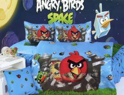 ANGRY BIRDS постельное, полотенца, пончо-полотенце