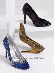 Золотые туфли Сolin Stuart  лодочки золото