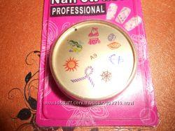 Мультицветный силиконовый стемпинг арт диск