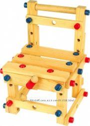 Стул - конструктор деревянный большой и маленький В наличии