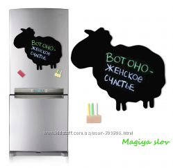 Магнитные доски на холодильник, разные формы, зверюшки