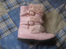 ботинки нежно розовые