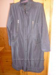 шикарное женское  утепленое плащ-пальто 54 размера сост нового
