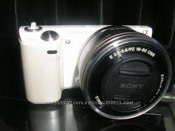 Sony nex 5n c объективом 16-50mm-беззеркальный фотоаппарат, состояние новог
