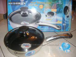 сковородка-сотейник  24см с антипригарным покрытием и крышкой