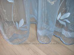 продам или обменяю новый отрез тюль -органза -голубой и розовый