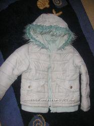 Демисезонная бирюзовая куртка на рост 110см