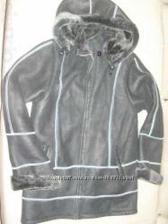 Легкая стильная куртка-дубленка размер S-M