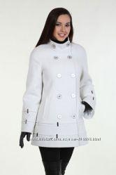 Демисезонное пальто Нуи вери Диско 46р. белого цвета