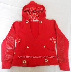 Оригинальный свитер на девочку 6-7-8 лет, рост 122-128-134