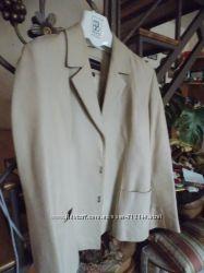 Классический кожаный пиджак-куртка