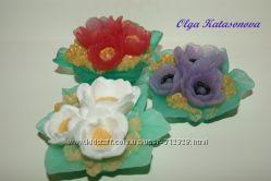 Мыльные цветы, букеты к 8 марта - мыло ручной работы
