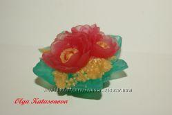 Мыльные цветы, букеты, открытки - 8 марта - мыло ручной работы