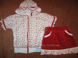 Велюровый комплект, костюм  от 1 до 5 лет