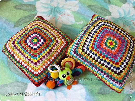 Оригинальные декоративные подушки Бабушкин квадрат , под заказ