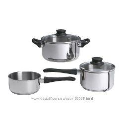 Набор кухонной посуды, 3 предметa икеа в наличии