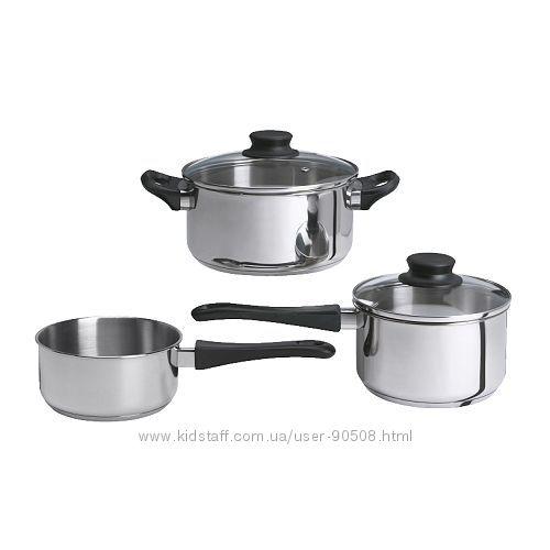 Набор кухонной посуды, 3 предметa икеа