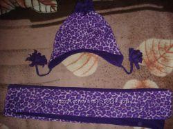 Флисовая шапка с шарфом Childrensplace 54-56 р.