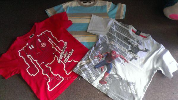 Фирменные футболки, 98-104 см на 3-5 лет