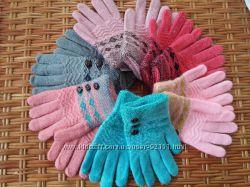Красивые перчатки-рукавички от 7лет. В наличии