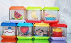 Сенсорные  кубики  Fisher  Price , , Еда-7шт
