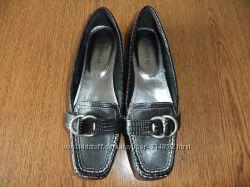 Кожаные туфли-мокасины