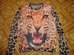 стильный свитшот с тигром 3д турция