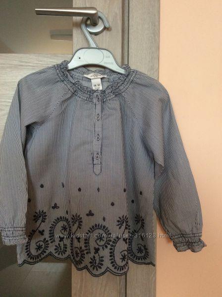 Вышитая рубашка  H&M на 104 р.