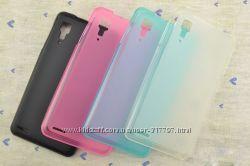 Полупрозрачный TPU силиконовый чехол Lenovo P780 IdeaPhone