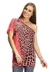Брендовая футболка Леопард Bershka