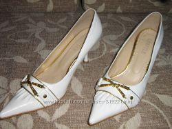 Свадебные белые туфли 38 р.