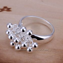 Оригинальные кольца с покрытием серебра 925 пробы