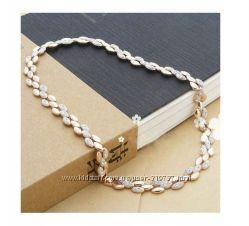 Изысканное ожерелье с кристаллами  Swarovski
