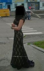 Выпускное, вечернее платье со шлейфом