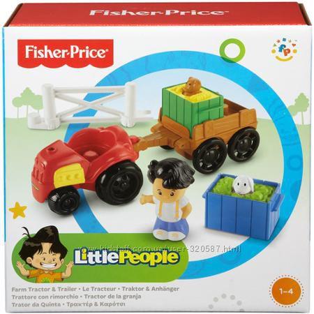 Детский игровой набор Little People Farm Tractor & Trailer от Fisher Price