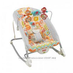 Кресло шезлонг Fisher-Price Deluxe Infant-To-Toddler Rocker